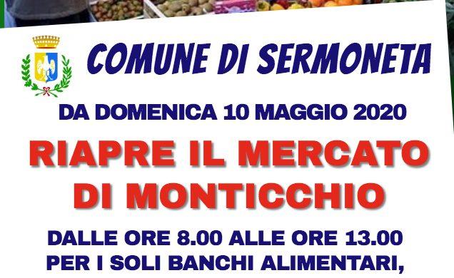RIAPRE IL MERCATO SETTIMANALE DELLA DOMENICA DI MONTICCHIO